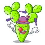Juggling cartoon the prickly pear opuntia cactus. Vector illustration vector illustration