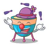 Juggling cartoon timpani isolated on the mascot. Vector illustration vector illustration