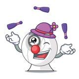Juggling cartoon webcam in funny that shape. Vector illustration stock illustration