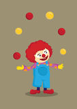 Juggling Clown Vector Cartoon Character Stock Images