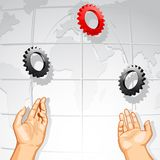 Juggling Cog Wheel Royalty Free Stock Image