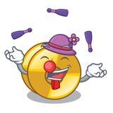 Juggling cyamblas miniature in the cartoon shape. Vector illustration royalty free illustration