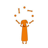 Juggling dog Stock Images