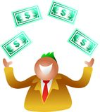 Juggling dollars Stock Photography