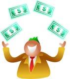 Juggling dollars vector illustration