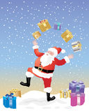 Juggling father christmas Royalty Free Stock Photos