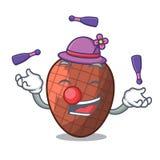Juggling fruits mauritia flexuosa isolateed on cartoon. Vector illustration royalty free illustration