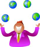 Juggling globes royalty free illustration