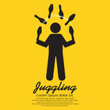 Juggling Graphic Sign. Vector Illustration Royalty Free Stock Photography