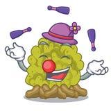 Juggling green coral reef toys cartoon shapes. Vector illustration royalty free illustration
