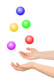 Juggling hands Stock Images