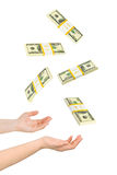Juggling hands and money Royalty Free Stock Images