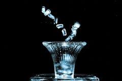 Juggling ice Royalty Free Stock Photos