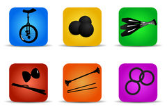 Juggling icons Stock Photography