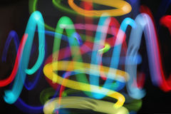 Juggling lights Stock Photography