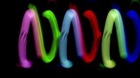 Juggling lights dancing stock video footage