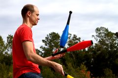 Juggling Man Royalty Free Stock Photography