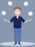 Juggling man vector cartoon Stock Photos