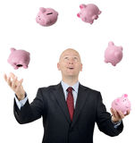 Juggling money Royalty Free Stock Image