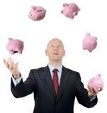 Juggling money Royalty Free Stock Image