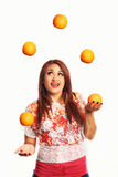 Juggling Oranges Stock Images