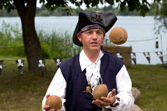 Juggling Pirate Royalty Free Stock Photos