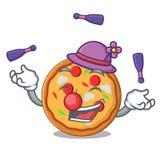 Juggling pizza mascot cartoon style. Vector illustration vector illustration