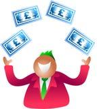 Juggling pounds. Money man Stock Photography
