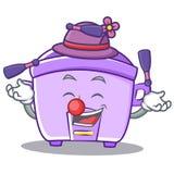 Juggling rice cooker character cartoon. Vector illustration Stock Photo