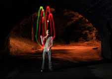Juggling show Stock Image