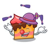 Juggling sponge cake mascot cartoon. Vector illustration Royalty Free Stock Images