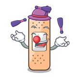 Juggling sticking plaster isolated with on cartoon. Vector illustration stock illustration