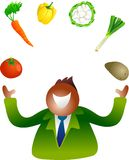 Juggling vegetables Stock Photos