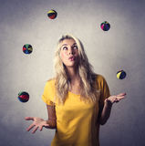 Juggling Royalty Free Stock Photos