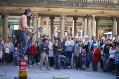 Juglar de la calle Imágenes de archivo libres de regalías