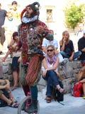 Juglar de la calle, Lublin, Polonia Foto de archivo libre de regalías