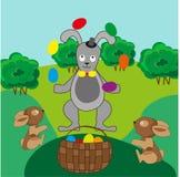 Juglar del conejo de Pascua Imagen de archivo