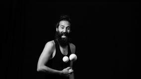 Juglar que tiene funt en el circo Foto de archivo libre de regalías