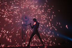 Juglares del fuego Foto de archivo