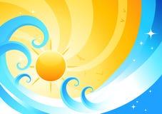 Jugo anaranjado del verano ilustración del vector