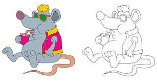 Jugo de consumición de la rata gorda libre illustration