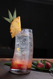Jugo de fruta de la piña Imagenes de archivo