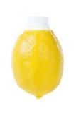 Jugo de limón fresco en el embalaje original Fotos de archivo