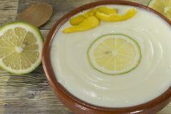 Jugo de limón hecho en casa con la fruta fresca Foto de archivo