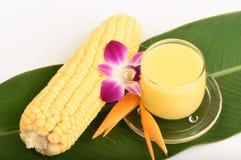 Jugo de maíz dulce Imagen de archivo libre de regalías