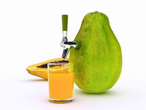Jugo de papaya Imagen de archivo libre de regalías