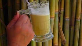Jugo de Sugar Cane almacen de metraje de vídeo