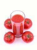 Jugo de tomate Imagenes de archivo