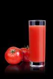 Jugo de tomate. Foto de archivo libre de regalías
