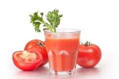 Jugo de tomate. Imágenes de archivo libres de regalías